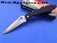 Wholesale Spyderco C07 GP3 tactical knife VG C07 outdoor survival knives camping hunting pocket folding knife cutting tools G10