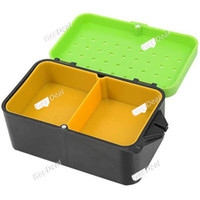 No No Other Plastic Hot Sale Portable Double Layer Worms Maggots Live Bait Box for Fishing-Color Assorted YH-302759