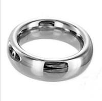 Steel 45mm diameter  Wholesale - round metal cock rings 45mm stainless steel penis ring keeping penis strong and hard adult sexy products free shipping
