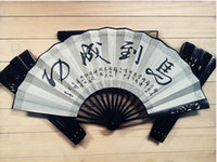 Wholesale China specialty inch Silk cloth Folding fan Hollow Carving Fan Calligraphy Painting High grade Gift