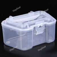 No No Other Plastic Live Earthworm Fishing Tackle Box Bug Shrimp Bait Box for Fishing - Color Assorted YH-116246