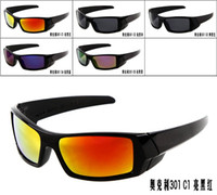 Sports color flame - New Arrival Classic Style Men s Sunglasses New Color Sunglasses Bright Black Frame Acrylic Flame color Lens Sport Sunglass
