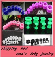 Wholesale mix size colors body jewelry acrylic screw flesh tunnel ear plug F21