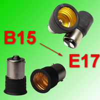 E17 B15 BA15 BA15d B15d bayonet base - Double contact bayonet B15d or Single contact bayonet B15s base convert to Edison Screw base E17 connector adapter socket holder fittings