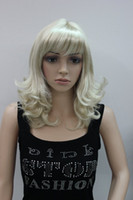 blonde Curly 14 Medium blonde wig high quality natural fiber full wig for women factory original wig cheap and free shipping