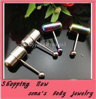 Tongue Rings Stainless Steel Chirstmas Vibrating Tongue Rings Stainless Steel Mix 2 Color 10pcs stainless Steel Tongue Barbell piercing