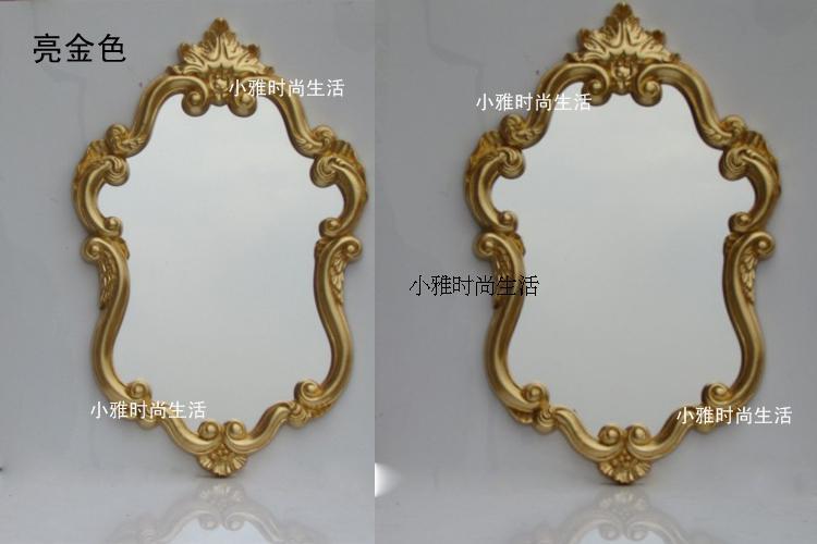 The baroque style waterproof bathroom mirror toilet glass for Baroque style bathroom