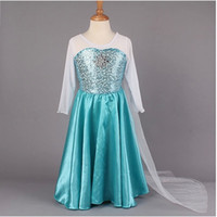 TuTu Summer Ball Gown 2014 Elsa Dress Custom made Movie Cosplay Dress Summer Anna Girl Dress Frozen Princess Elsa Costume for Children 3-7Y