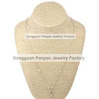 Wholesale Panpan inches Stainless steel Silver Pearl Layering Chain
