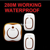 Wholesale 2 emitter receivers Waterproof M Long range wireless doorbell wireless door chime melodies bell YIROKA124dLS