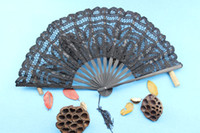 Wholesale Lace Fans Wedding Fans Ladies Hand Fans Bridal Accessories Handmade Assorted Colors Bamboo with Cotton Elegant Folding Fans