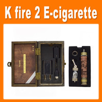 Wholesale K Fire Wood E cigarette mAh Vision Spinner Battery VV V Metal bottom Battery Mod K Fire Ecig Kit with Protank3 Atomizer