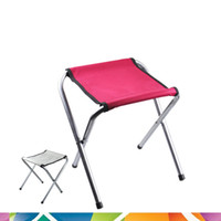 Wholesale Outdoor furniture chairs camping lounge chair seat ultralight aluminum tube grill portable folding stool chair fishing chair trains