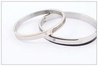 2014 hot sale silver Diamond bracelet, A quality titanium st...