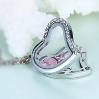 Wholesale Floating Charms Locket Peach Heart Pendant Floating Charm lacket necklace Pendant DIY Bracelet Charm