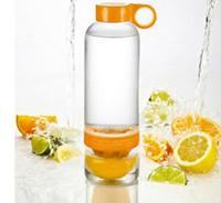 Plastic plastic bottle water bottle - 2015 New Hot Sell Citrus Zinger Fruit Infusion Water Bottle Lemon cup Water Bottle with Citrus Juicer Sport Water Bottle