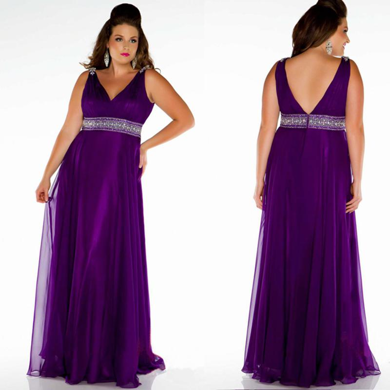 Plus Size Evening Dresses Long Purple