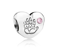 Metals Hearts, Love Silver 925 Sterling Silver Baby Girl Heart Bead with Pink Cz Fits European Style Pandora Jewelry Charm Bracelets