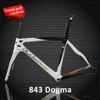 Wholesale Dogma T1000 k or k white Think carbon frame road bike racing frame bicycle frameset seatpost fork gloosy or matte
