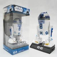 Wholesale 5pcs Funko Star Wars R2D2 Bobble Head PVC Action Figure Toy hot sale