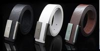 men's belts - foreign trade blast wave models letter plate buckle belt leather belt men s casual wild