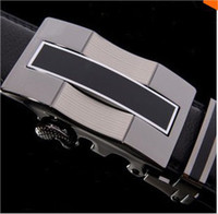 Wholesale Belt man leather belt casual and korean type pure cowleather belt automatic buckle belts widened