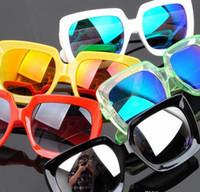 PC Sports Rectangle Wholesale - Hot New Fashion Men Sunglasses Women Sunglasses Reflective lenses Unisex glasses Sunglasses Outdoor UV400 SunGlasses