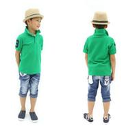 Wholesale kids polo shirts HOT NEW boy girl summer short sleeve color shirt boys summer t shirt clothing childrens