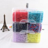 South American loom bands - 30 COLOR Rubber loom bands kit DIY Colorful bracelets set Bands PC Hook S C clip Loom Y362