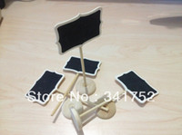 Wedding Event & Party Supplies Yes 2013 Free Shipping 200 Mini chalkboards Blackboard on stick Place holder Table Number For Wedding Party Christmas Decorations