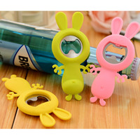 Wholesale Magic Cartoon Rabbit Fridge Stickers Color Wine Bottle Openers Creative Children Toys and Gifts SH680
