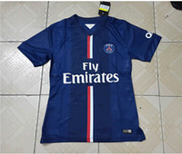Wholesale PSG home soccer jersey Need Thai version of the player uniforms blue jersey