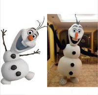 Mascot Costumes Animal Occupational New hot sale Frozen Olaf Snowman Mascot Costume for Adult Fancy Dress Costume EMS Free Shipping