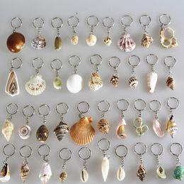 Wholesale Christmas Halloween Gift Couple Keychain Innovative Conch Shells Keychain Alloy Key Ring Key Chain