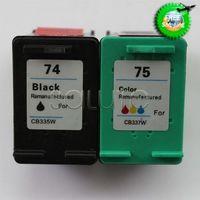 Remanufaturados para HP74 / CB335WN Preto para HP75 / CB337WN jato de tinta cartuchos de tinta para HP DJ D4500 / D4268 / C4250 / C4280 / C5540 Wholesale