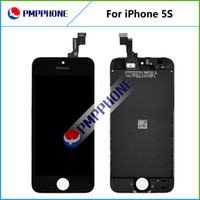 Wholesale LCD For iPhone S Free Fedex EMS DHL Ship with touch screen Full set Assembly White and black color