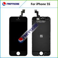 Compra Ems completa-LCD para el iPhone 5S Fedex libre el ccsme DHL de la nave con la pantalla táctil del sistema completo de la Asamblea color blanco y negro