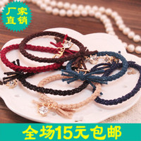 Cheap Barrettes & Clips Taobao Best Hair rope Dark green blue khaki burgundy black cof Dig treasure