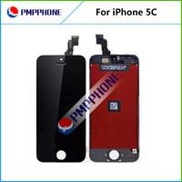 LCD pour l'iPhone 5 5C Fedex gratuit EMS DHL navire avec écran tactile Full set Assemblée blanc et la couleur noire