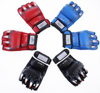 Wholesale Details about High quality Grappling MMA gloves ufc boxing fight ultimate gloves punch Color E691