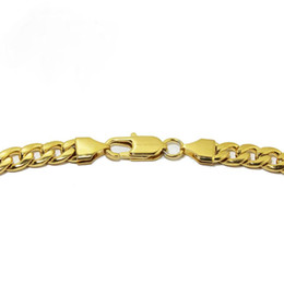 """Wholesale 24""""MEN's Stainless Steel 6mm Gold Cuban Curb Link Chain Necklace ship free"""