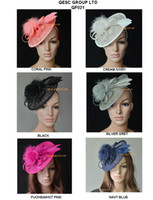 Headbands fascinator hat - Sinamay fascinator hat for Ascot Races Wedding Party Kentucky Derby Melbourne Cup cream black hot pink silver grey