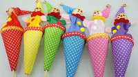 Wholesale Smiley Face Clown Hide amp Seek Play game jingle Bell baby Kids children Fun toy Gift