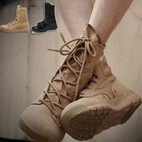 Wholesale Summer Mens U S Army ultra light SFB desert swat combat boots military tactical hiking leather lace up shoes black Khaki X254 salebags