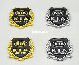 Wholesale car styling KIA K5 K3 K2 CARENS Soul Forte Ceretto Rio metal logo sticker modified standard column car accessories