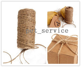 Wholesale 50 meters Natural Jute Twine Burlap String Ply Rope Wedding Wrapping Cord Thread Crafts