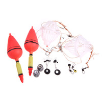 Wholesale New Silver Carp Fishing Float Bobber Sea Monster with Carbon Steel Six Strong Explosion Hooks Two Fishing Tackle Sets with Box H11032