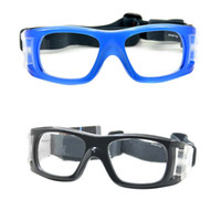 Wholesale Outdoor Sports Protective Goggles Glasses Eyewear for Sports Games Basketball Football Hockey Rugby Soccer Universal Blue Black H11023
