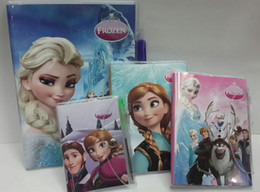 Wholesale Elsa anna princess Book Notebook with a Pen Student Diary Elsa Anna Book Student Notepad CM pages