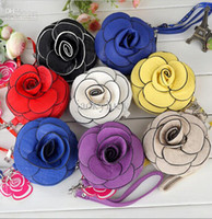 Coin Purses many size Floral In Stock!New Women's Handbags Small Pouch Rose Flowers Purse PU Leather Wallet Debris Pouch Cell Phone Pocket Cheap Wholesale